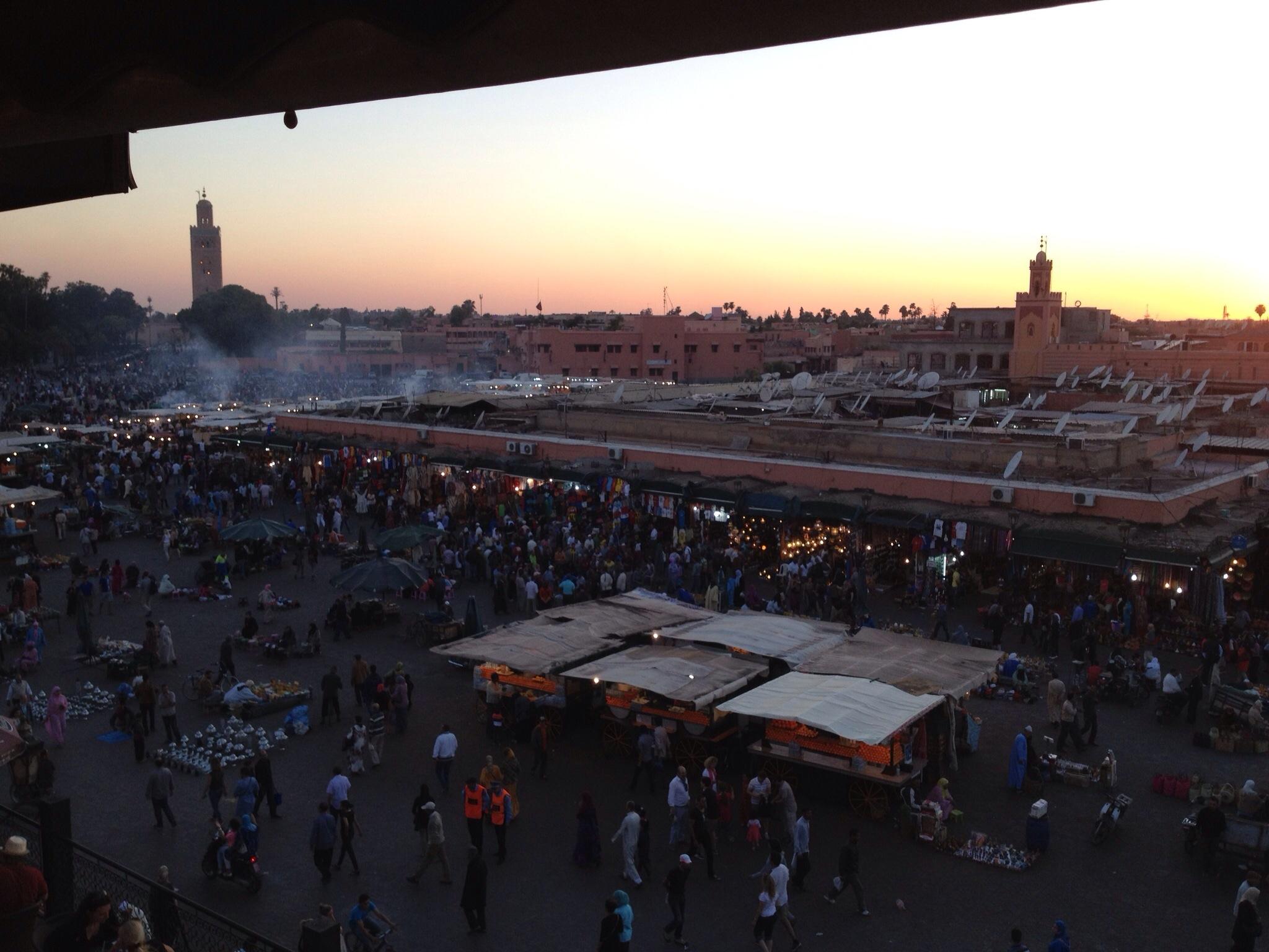 Jemaa square in Marrakech