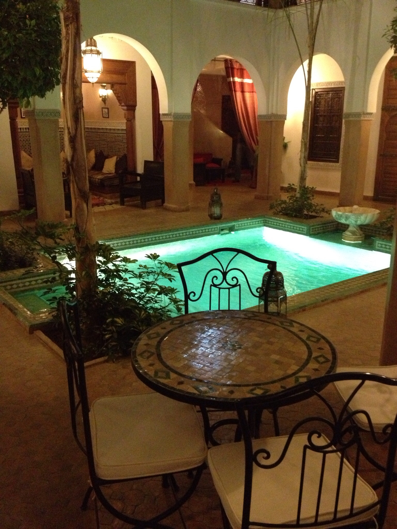 Hotel courtyard Marrakech