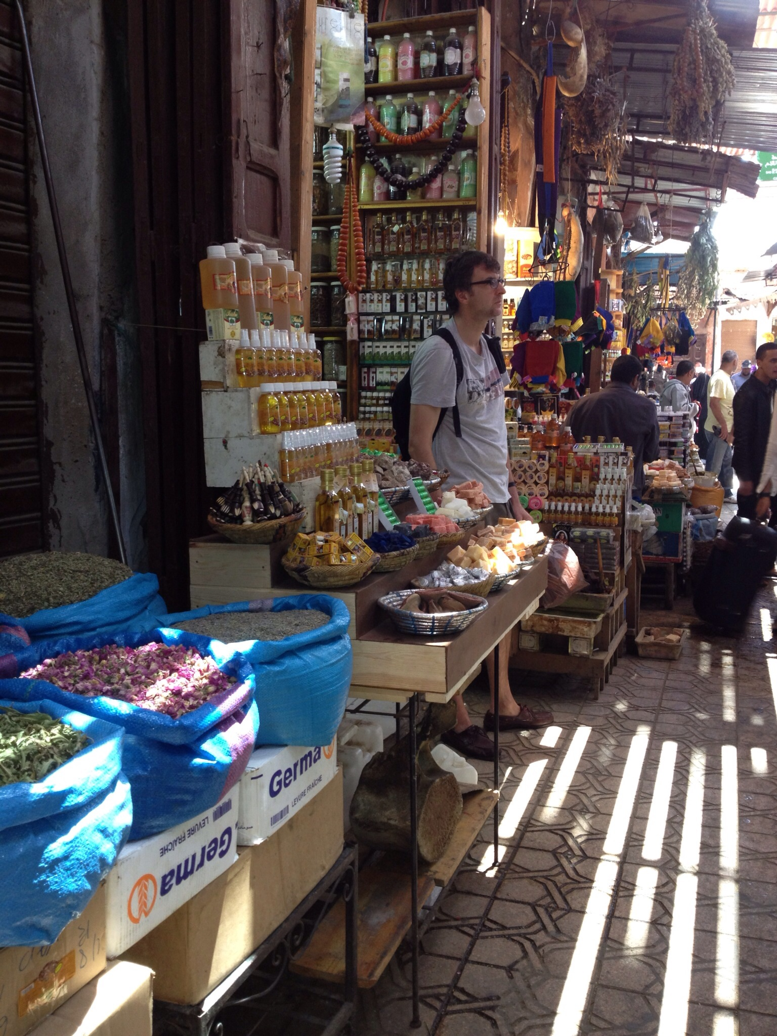 The markets - or souks in Marrakech