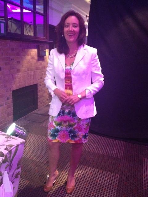 Woman in dress for Wimbledon