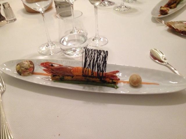 prawn dish on a plate
