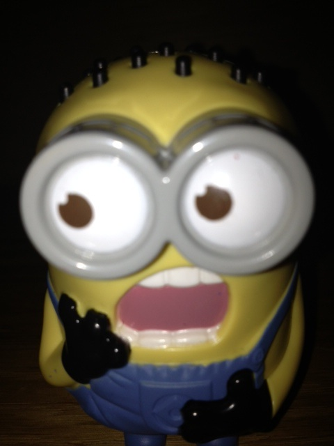 A minion from Despicable Me close-up