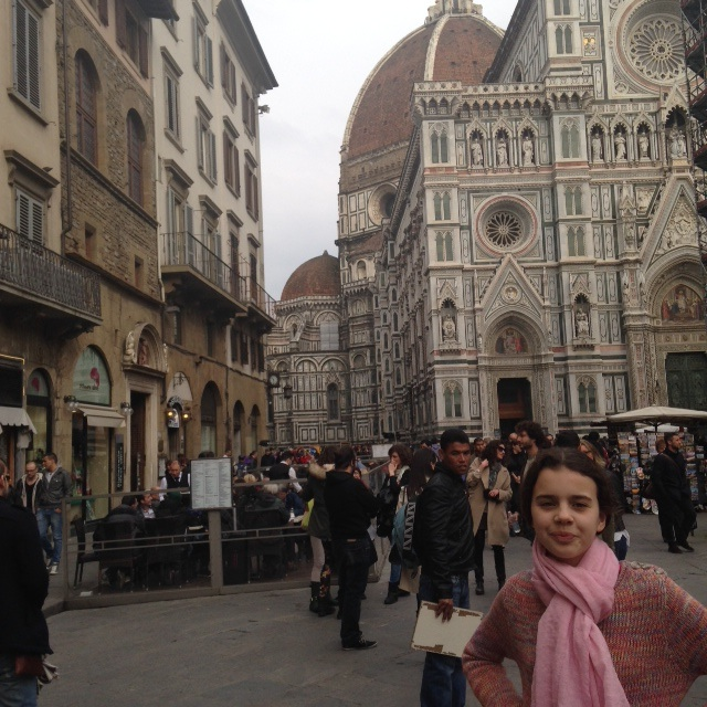 Girl in front of Duomo in Florence